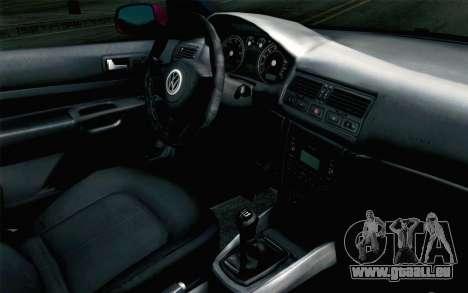 Volkswagen Golf v5 Stock pour GTA San Andreas vue de droite