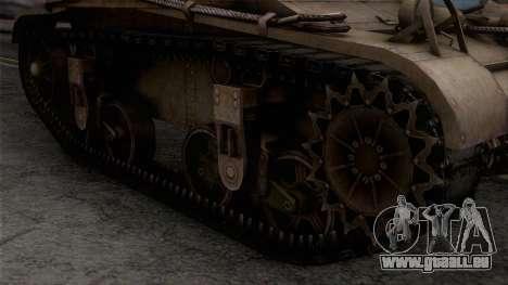 M2 Light Tank für GTA San Andreas rechten Ansicht