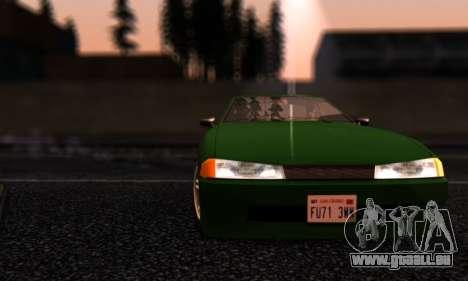 Elegy I Love GS v1.0 für GTA San Andreas Seitenansicht