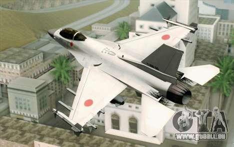 Mitsubishi F-2 Blue JASDF Skin für GTA San Andreas linke Ansicht