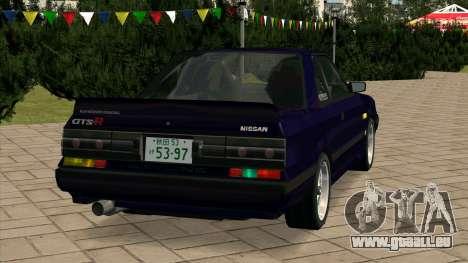 Nissan Skyline GTS-R (HR31) pour GTA San Andreas sur la vue arrière gauche