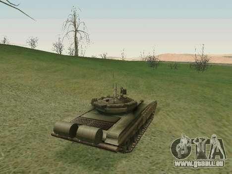 Réservoir T-72B pour GTA San Andreas vue de droite