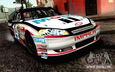 NASCAR Chevrolet Impala 2012 Plate Track für GTA San Andreas
