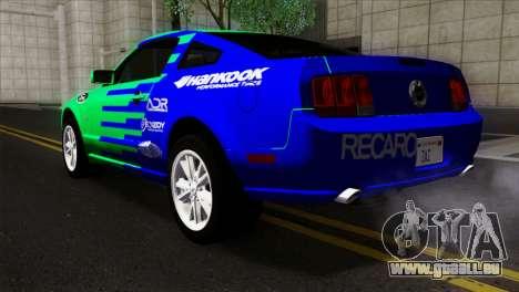 Ford Mustang GT Wheels 2 pour GTA San Andreas laissé vue