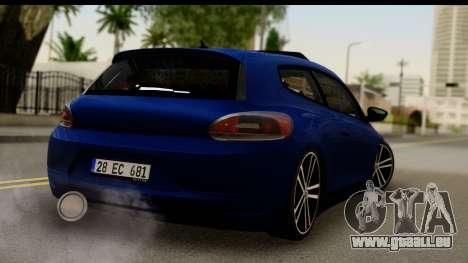 Volkswagen Scirocco pour GTA San Andreas laissé vue