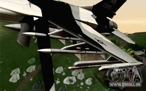 F-16C Fighting Falcon Aggressor Alaska BlackGrey pour GTA San Andreas vue de droite
