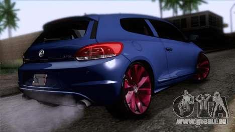 Volkswagen Scirocco GT 2009 pour GTA San Andreas laissé vue
