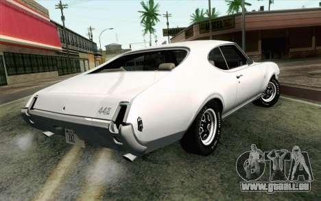Oldsmobile 442 Vacances Coupé 1969 FIV АПП pour GTA San Andreas laissé vue