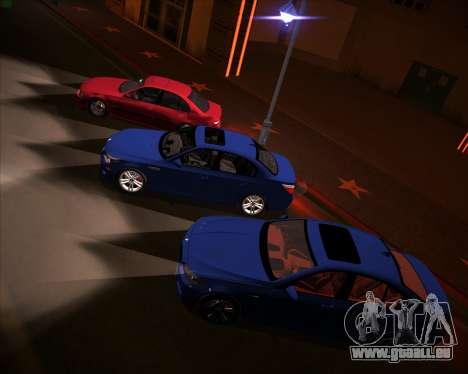 BMW 5-series E39 Vossen pour GTA San Andreas vue de dessous
