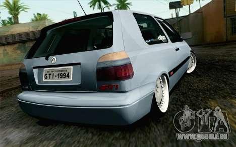 Volkswagen Golf Mk3 Eurolook pour GTA San Andreas laissé vue