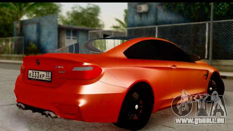 BMW M4 pour GTA San Andreas laissé vue