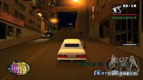 Pour augmenter ou diminuer le radar dans GTA V pour GTA San Andreas cinquième écran