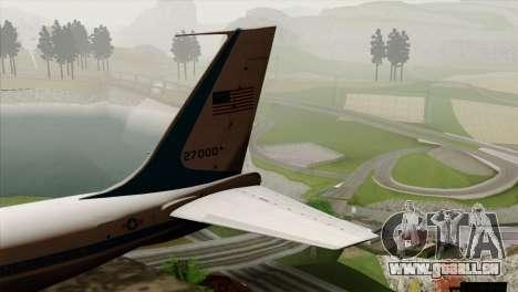 Boeing VC-137 für GTA San Andreas zurück linke Ansicht