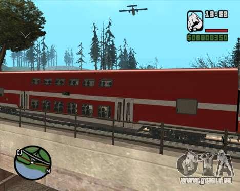 Israeli Train Double Deck Coach für GTA San Andreas zurück linke Ansicht