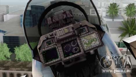 F-15E Artic Blue pour GTA San Andreas vue arrière