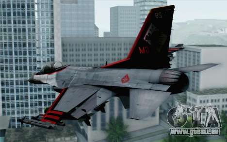 F-16 15th Fighter Squadron Windhover pour GTA San Andreas laissé vue