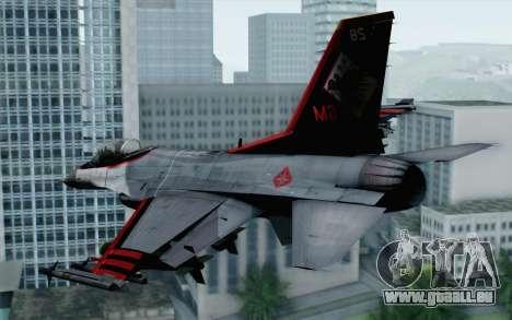 F-16 15th Fighter Squadron Windhover für GTA San Andreas linke Ansicht