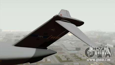 C-17A Globemaster III NATO pour GTA San Andreas sur la vue arrière gauche