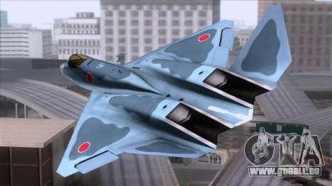 YF-23 JASDF pour GTA San Andreas laissé vue