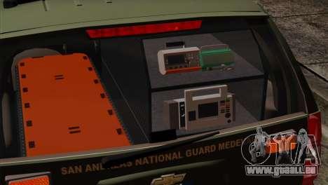Chevrolet Suburban National Guard MedEvac pour GTA San Andreas vue arrière