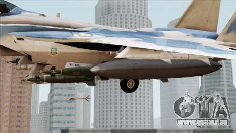F-15E Artic Blue pour GTA San Andreas vue de droite