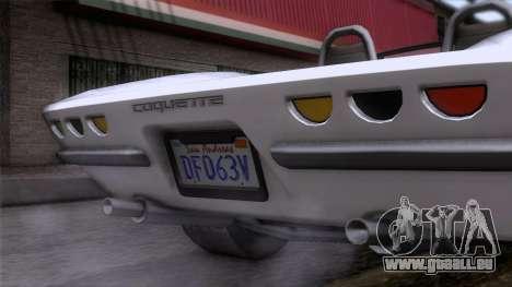 GTA 5 Invetero Coquette Classic TL für GTA San Andreas Rückansicht