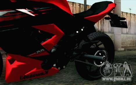 Kawasaki Ninja 250RR Mono Red für GTA San Andreas rechten Ansicht