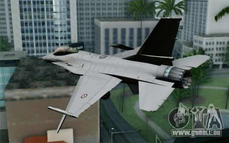 F-16 Fighting Falcon RNoAF für GTA San Andreas linke Ansicht