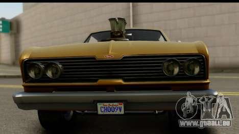 GTA 5 Vapid Blade SA Mobile pour GTA San Andreas sur la vue arrière gauche