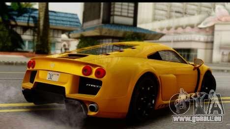 Noble M600 2010 HQLM pour GTA San Andreas laissé vue