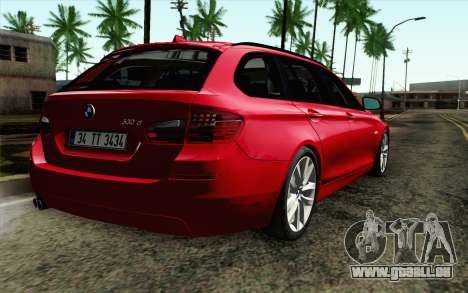 BMW 530d F11 Facelift IVF pour GTA San Andreas laissé vue
