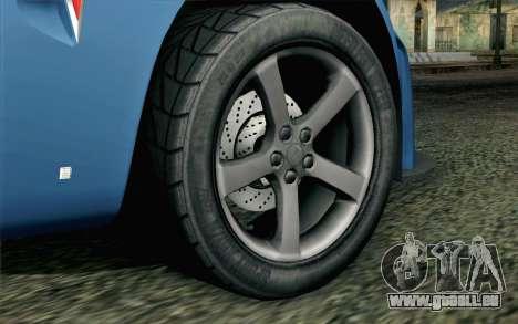 Pontiac Solstice pour GTA San Andreas sur la vue arrière gauche