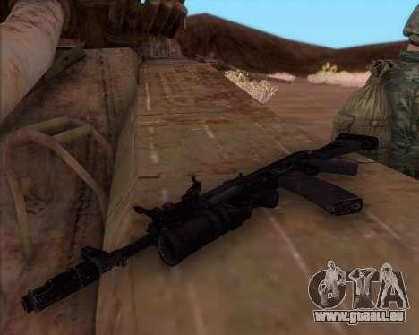 La Kalachnikov AK-74M pour GTA San Andreas troisième écran