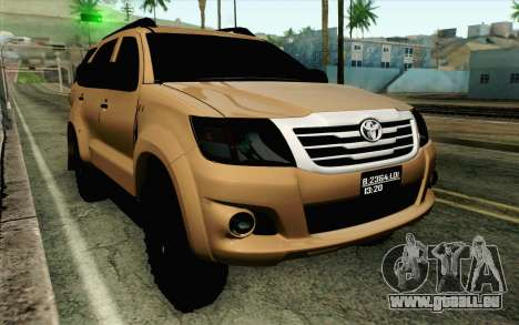 Toyota Fortuner 2014 4x4 Off Road für GTA San Andreas