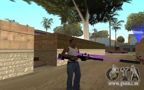 Purple Weapon Pack by Cr1meful pour GTA San Andreas troisième écran