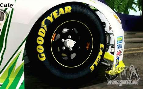 NASCAR Chevrolet SS 2013 v4 pour GTA San Andreas sur la vue arrière gauche