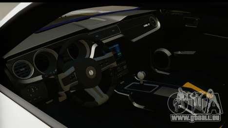 Ford Mustang 2010 Cobra Jet pour GTA San Andreas vue intérieure