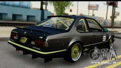 BMW M635 E24 CSi 1984 pour GTA San Andreas laissé vue