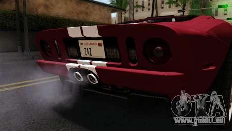 Ford GT FM3 Rims für GTA San Andreas Rückansicht