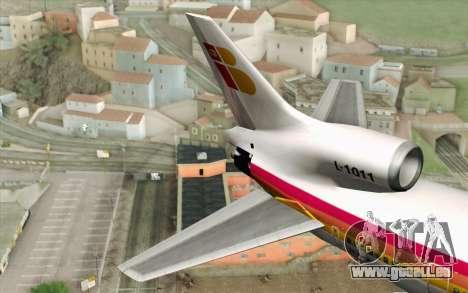 Lookheed L-1011 Iberia pour GTA San Andreas sur la vue arrière gauche
