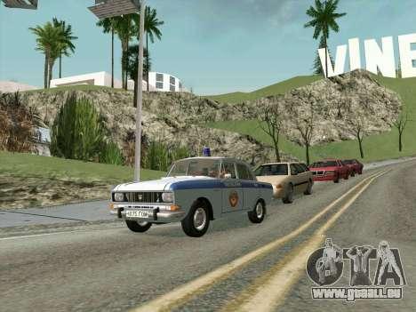 Moskvich 2140 Police pour GTA San Andreas laissé vue