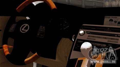Lexus RX450H v2 pour GTA San Andreas vue arrière