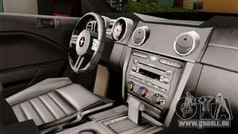Ford Mustang GT PJ pour GTA San Andreas vue de droite