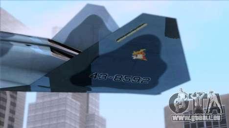 YF-23 JASDF für GTA San Andreas zurück linke Ansicht