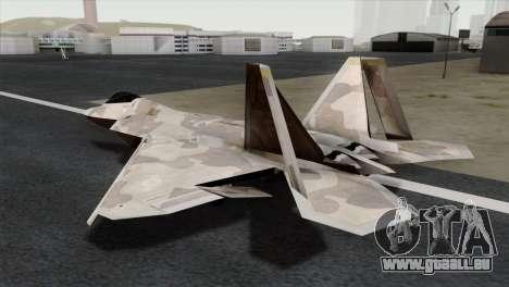 F-22 Raptor 02 pour GTA San Andreas laissé vue