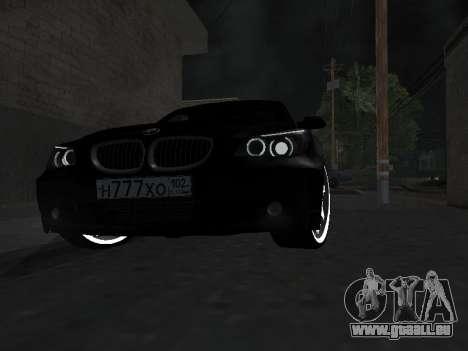 BMW 525i (e60) pour GTA San Andreas vue intérieure