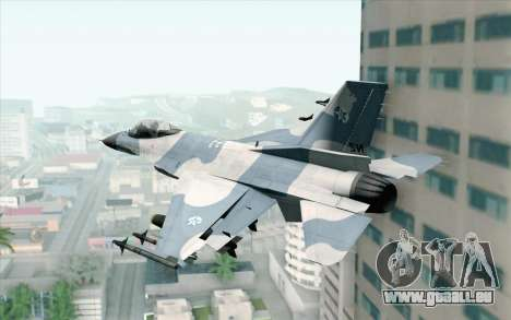 F-16 Osean Air Defense Force pour GTA San Andreas laissé vue