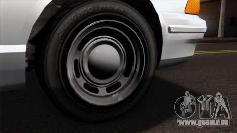 GTA 5 Vapid Stanier Sheriff SA Style pour GTA San Andreas sur la vue arrière gauche