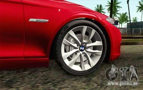 BMW 530d F11 Facelift IVF pour GTA San Andreas sur la vue arrière gauche