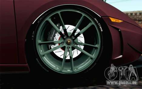 Lamborghini Gallardo LP570-4 Superleggera 2011 pour GTA San Andreas sur la vue arrière gauche